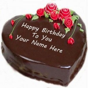 Happy Birthday Cake With Name Edit For Facebook Greeting Cards