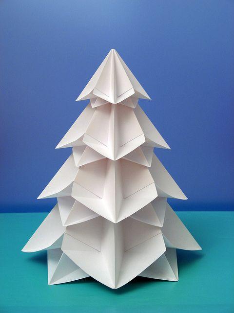 Bialbero Di Natale Double Christmas Tree Origami Christmas Tree Christmas Origami Diy Origami