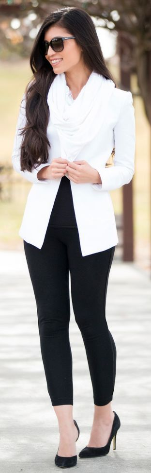 Black And White Winter Outfit by Stylishly Me