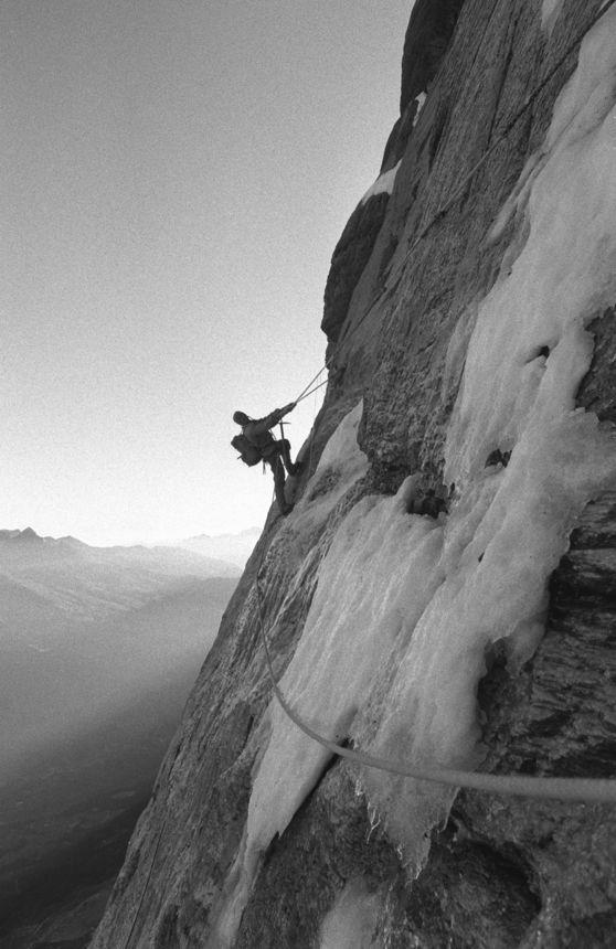 The Hinterstoisser Traverse. Eiger Nordwand