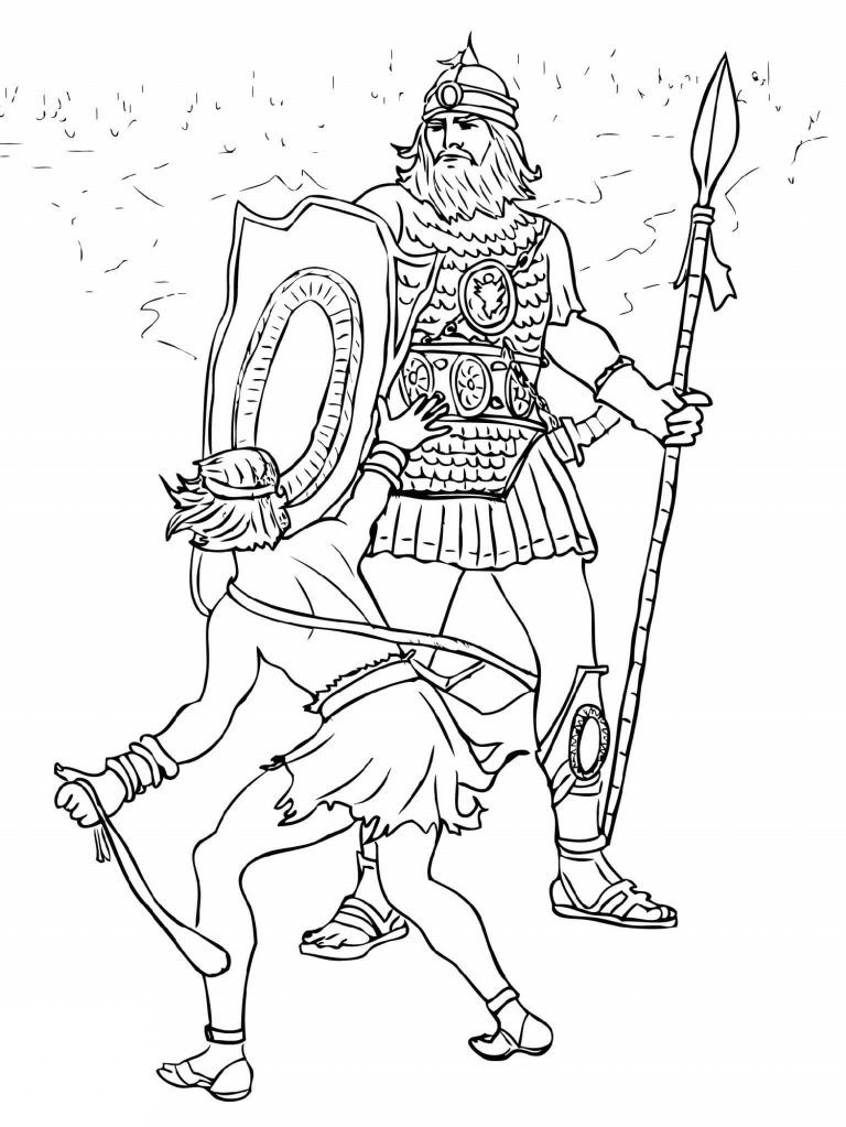David And Goliath Coloring Pages Best Coloring Pages For Kids Bible Coloring Pages David And Goliath Coloring Pages