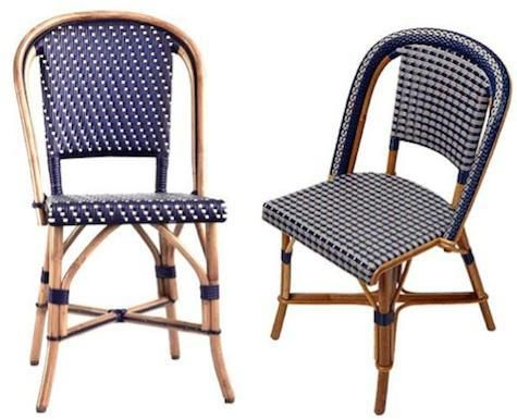 Design Sleuth Classic French Rattan Bistro Chairs Bistro Chairs Outdoor Patio Furniture Sets French Bistro Chairs