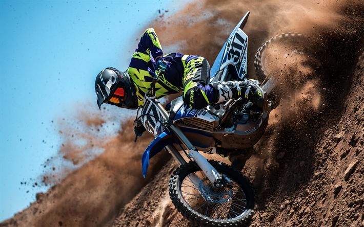 Download Wallpapers 4k, Yamaha YZ450F, Motocross, 2018