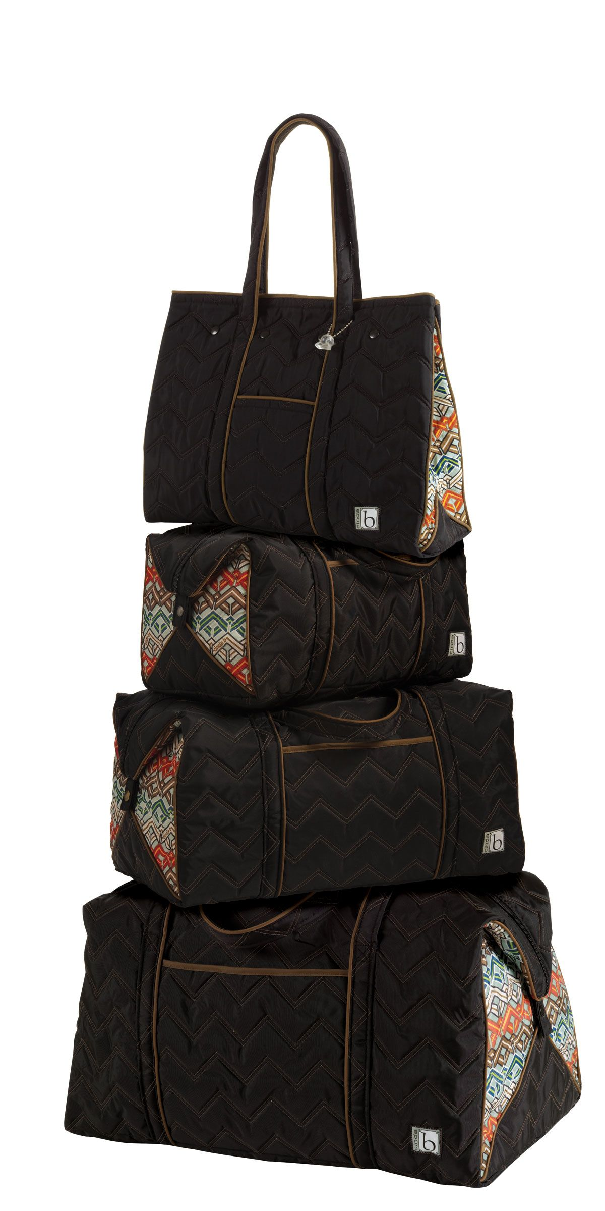 now THAT'S a travel stack! cinda b Travel Bags in Ravinia