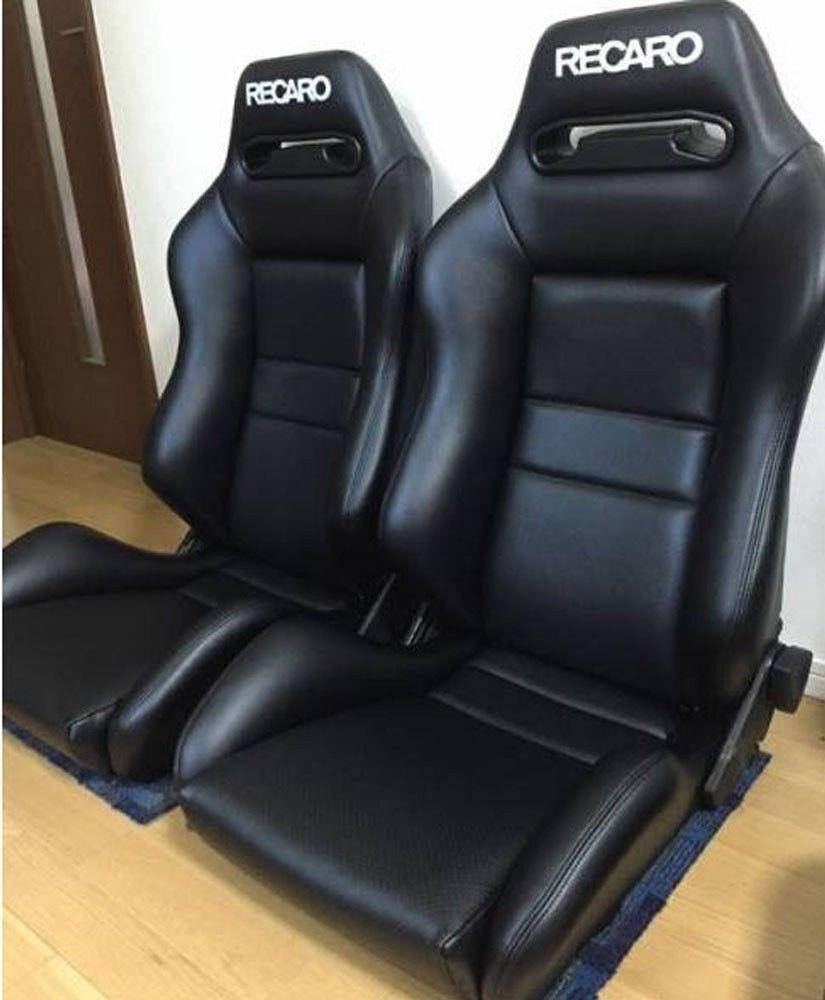 2 Original Recaro Sr3 Seats Leather Racing From Japan Toyota Honda Car Recaro Recaro Car Seat Leather Seat