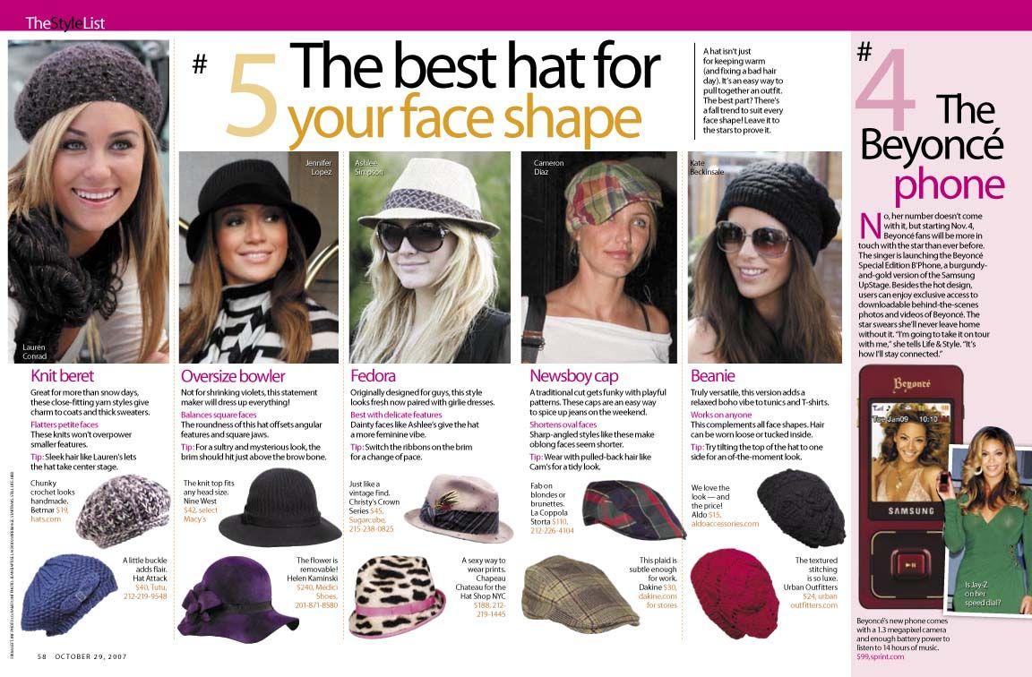 Hats for face shape Body Shapes ea45ea88d06