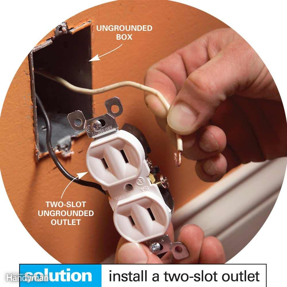 small resolution of don t install a three slot receptacle without a ground
