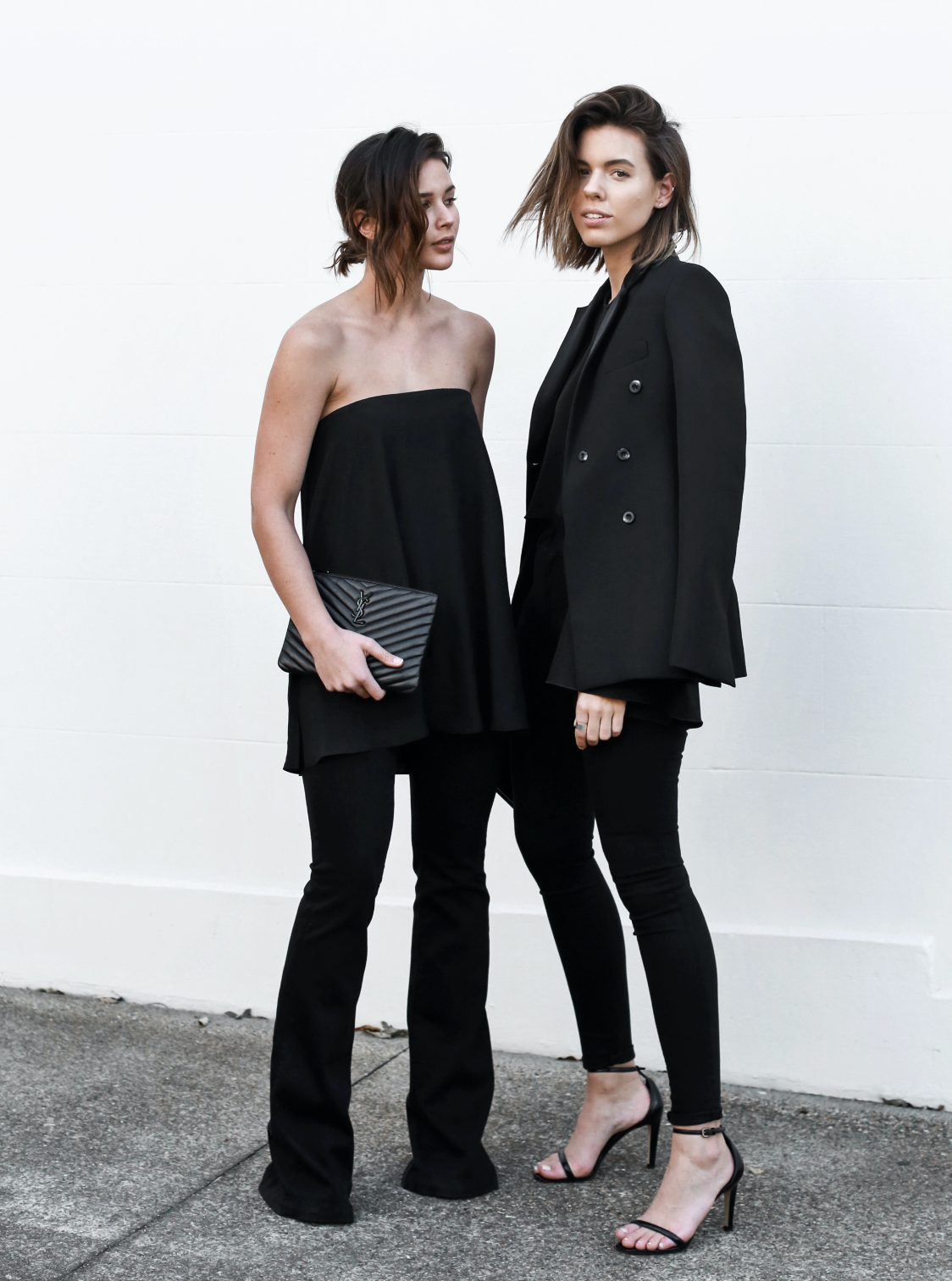 @harperandharley and @kaitymodern get Seriously Black in our new luxuriously comfortable, fade resistant collection. #LittleBlackJean