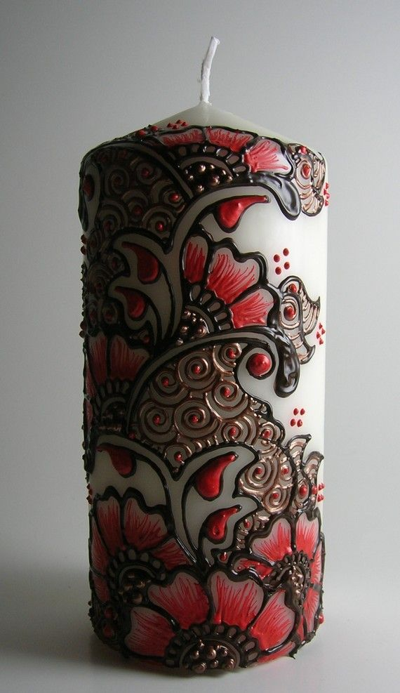 Hand Designed Candles Make Great Gifts Henna Candles Pinterest
