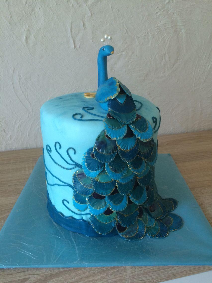 cake peacocks motivtorte pfau fondant 3d birthday cakes. Black Bedroom Furniture Sets. Home Design Ideas