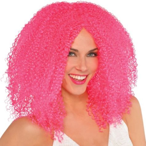 Fly Girl Pink Wig Party City Clown Wig Clown Hair Pink Wig