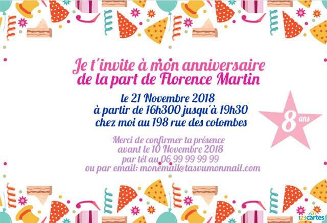 invitation anniversaire lego star