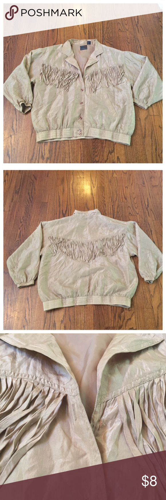 Murel SZ LARGE Fringe Sweat Suit Jacket In good condition. No holes. No rips. No tears. No stains. Murel Jackets & Coats