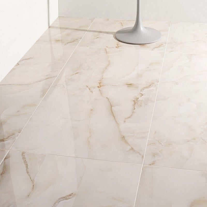 Lumina Onyx Pearl 24x48 Polished Porcelain Tile In 2020 Polished Porcelain Tiles Marble Look Tile Porcelain Flooring