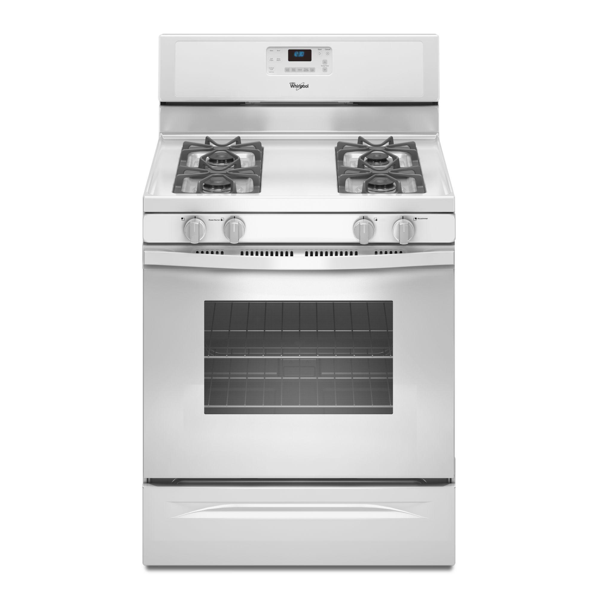 Best Buy Whirlpool Accubake 30 Self Cleaning Freestanding Gas Range White Wfg361lvq