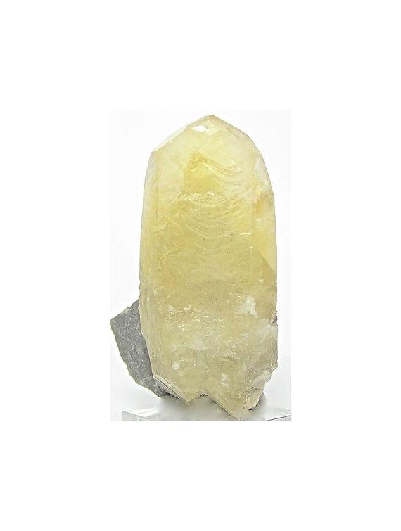 Semi-Precious pale Yellow Calcite and petite faceted Quartz gemstone necklace
