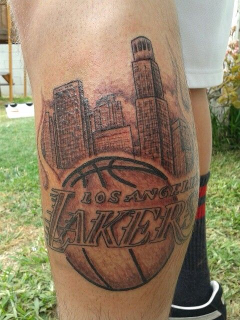 Laker tattoo for our sons 18th birthday my repin for Laker tattoo designs