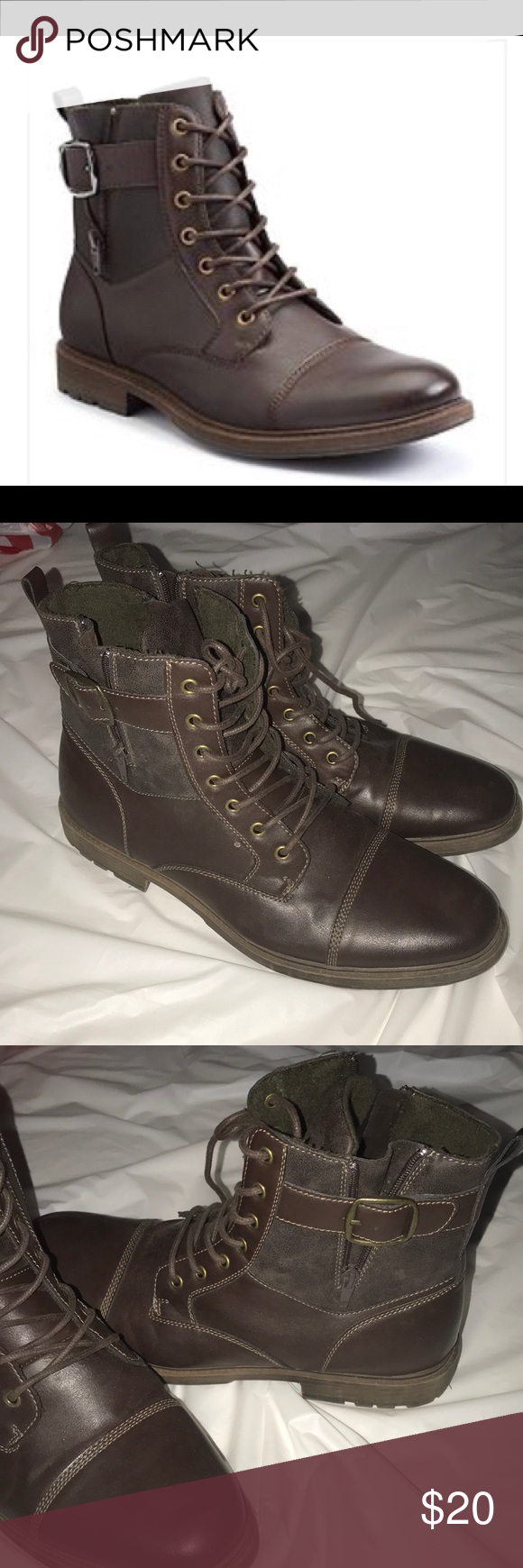 Casual boots, Boots, Brown leather boots