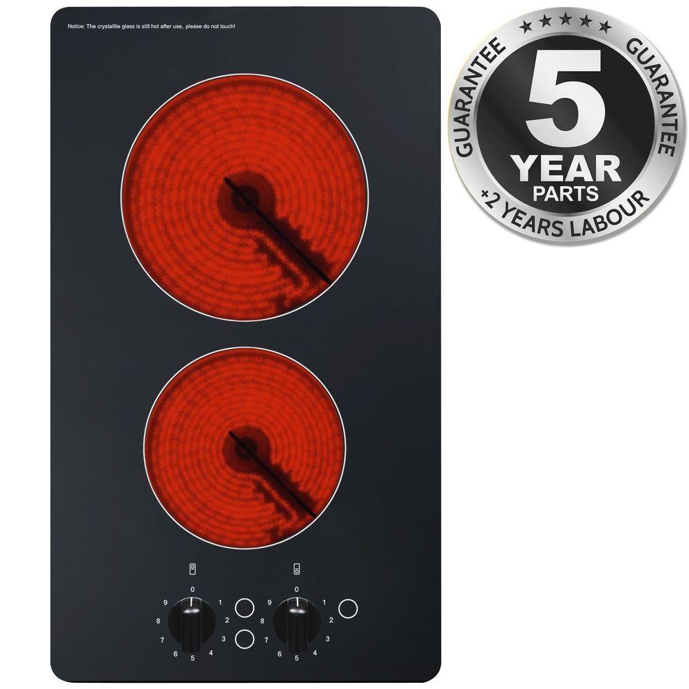 f40b63c20912 SIA CHC301BL 30cm 2 Burner Domino Ceramic Electric Hob In Black  702142394503