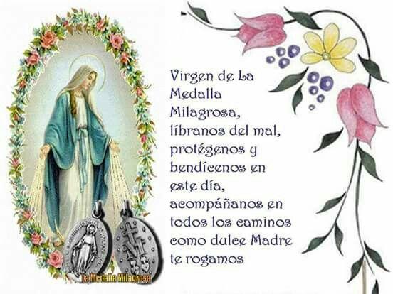 Oración A La Virgen De La Medalla Milagrosa Libro De Oraciones Oraciones Catolicas Oraciones Religiosas