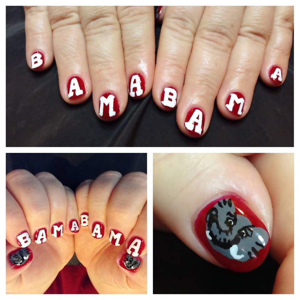 Bama nails, Bama nail art, Bama NailArt, nails, NailArt nail art, Alabama - Bama Nails, Bama Nail Art, Bama NailArt, Nails, NailArt Nail Art