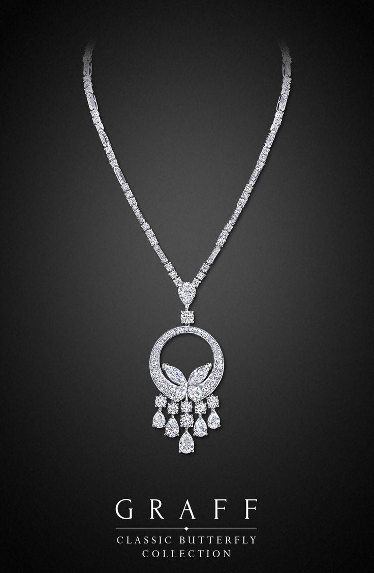 Diamond Necklaces Graff Diamonds Classic Butterfly Necklace