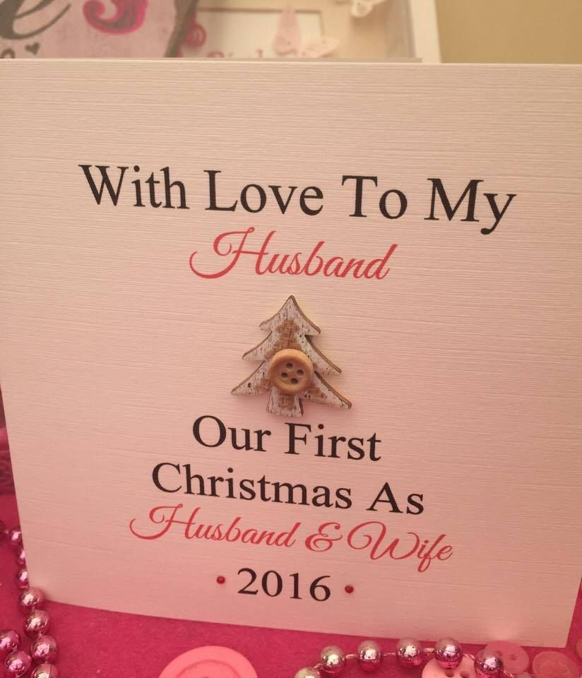 Personalised christmas card first christmas husband and wife personalised christmas card first christmas husband and wife couple kristyandbryce Choice Image