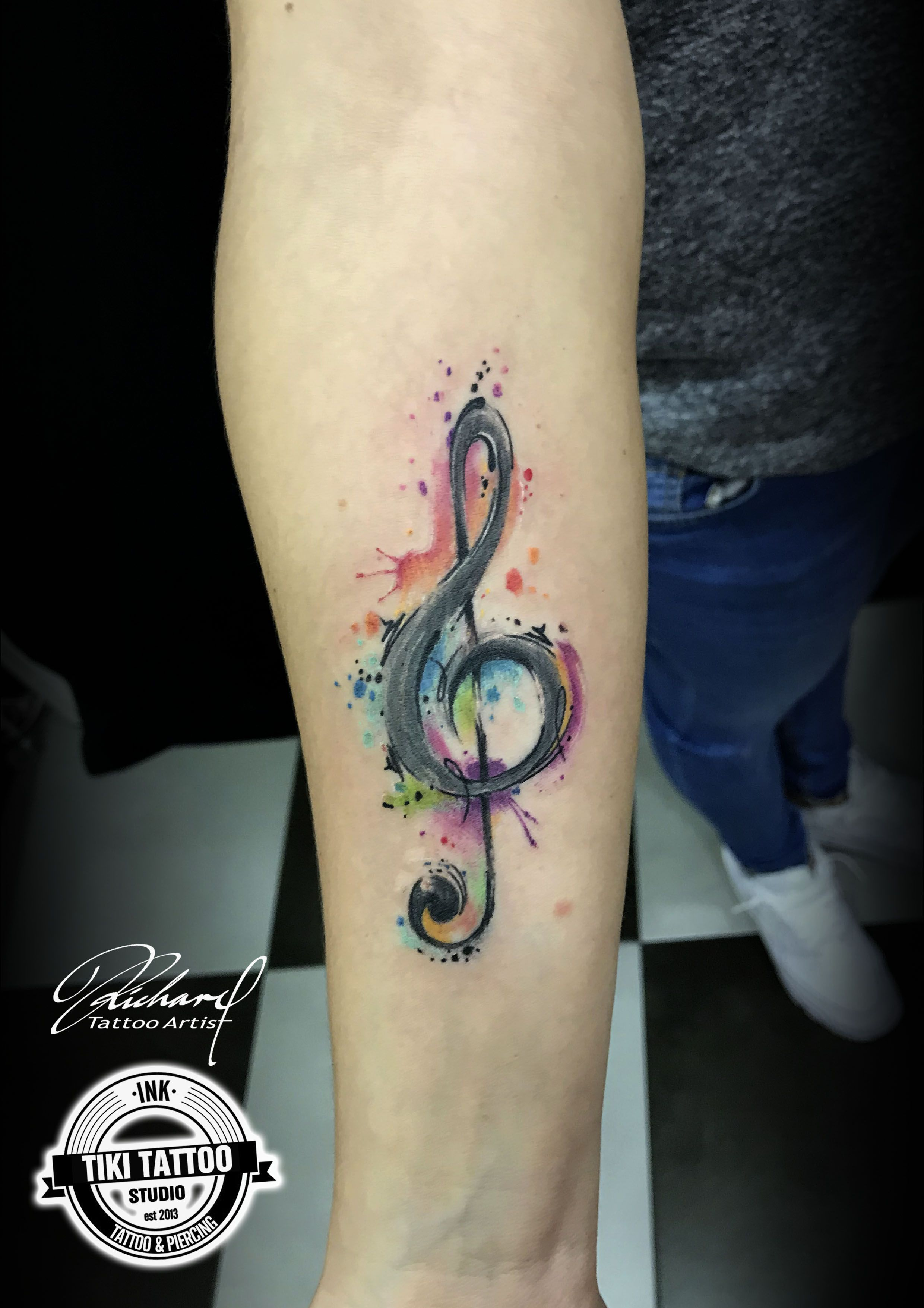 Watercolor Splash Background Tattoo