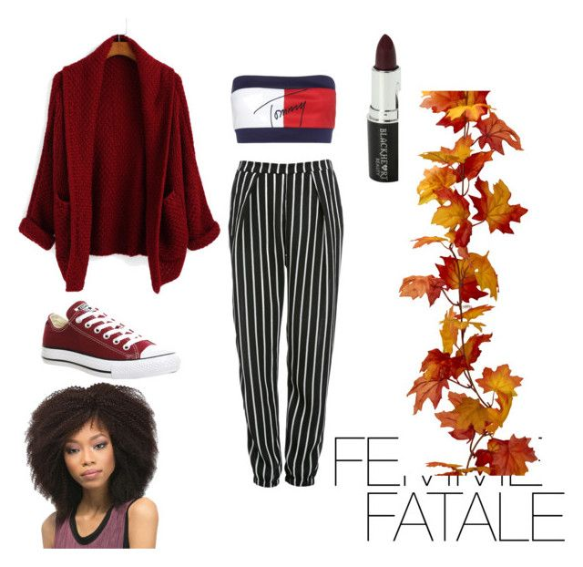 """Sans titre #14"" by callmef on Polyvore featuring mode, Glamorous, Tommy Hilfiger, Converse et Voom"
