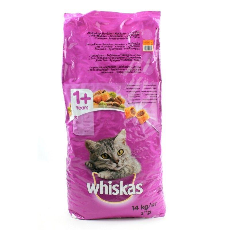 Katzen Trockenfutter Whiskas 1 Mit Huhn Katzen Futter Katzen