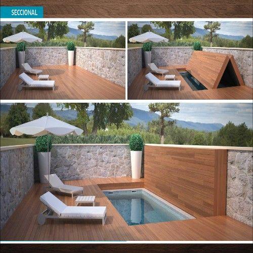 Cubiertas piscina-cubrir piscina Piscinas pequenas Pinterest