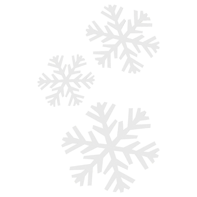 Transparent Snowflake Shapes