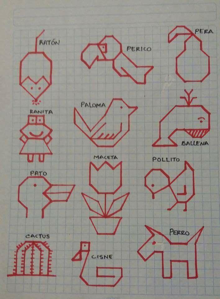 Dibujos En Cuadricula Geometria Dibujos En Cuadricula Dibujos En Cuadros Y Dibujos De Puntos