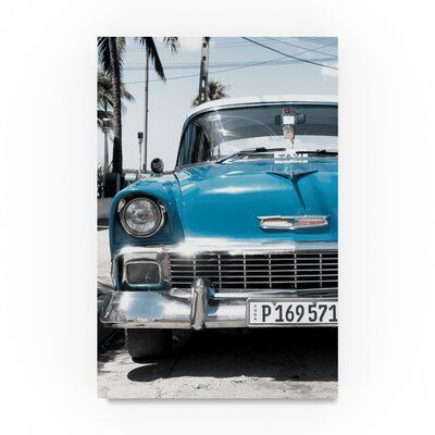 Trademark Fine Art 'Chevy Classic Car' Photographic Print on Wrapped Canvas in B…