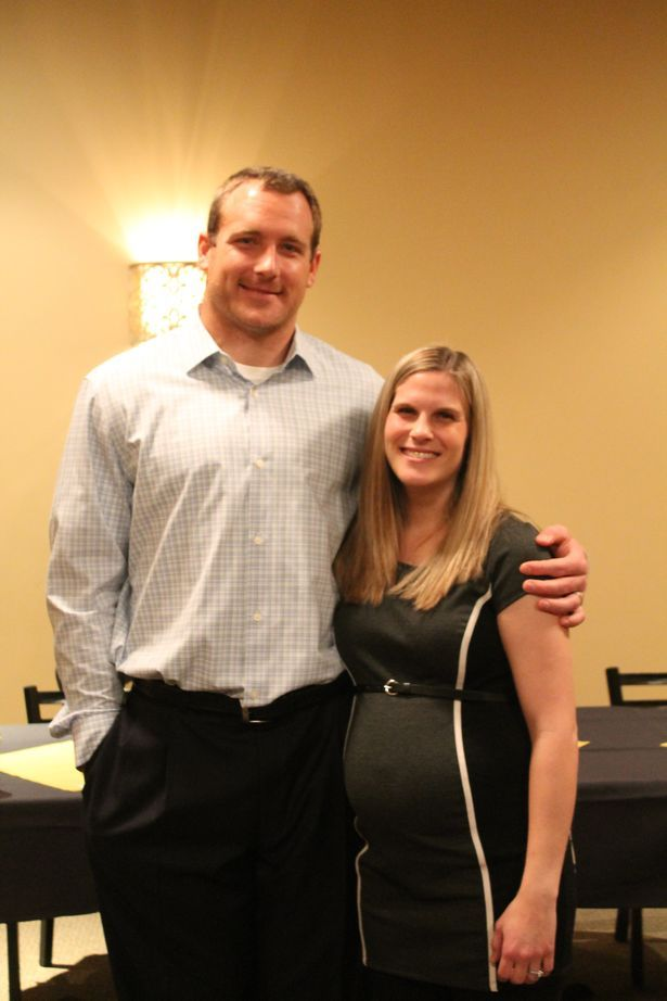 Heath Miller with gracious, Wife Katie Miller