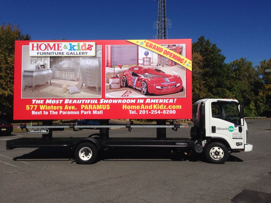 Check out our new mobile billboard Kids Furniture