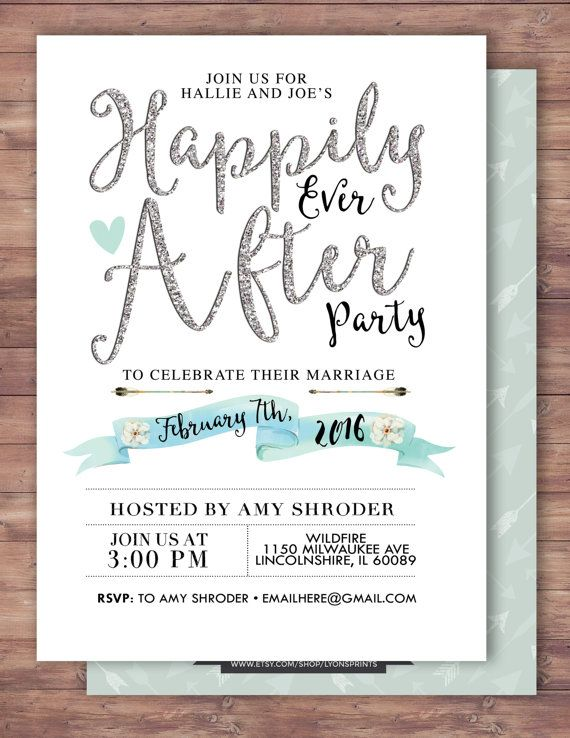 Happily ever after invitation BOHO wedding shower by LyonsPrints - free engagement party invites