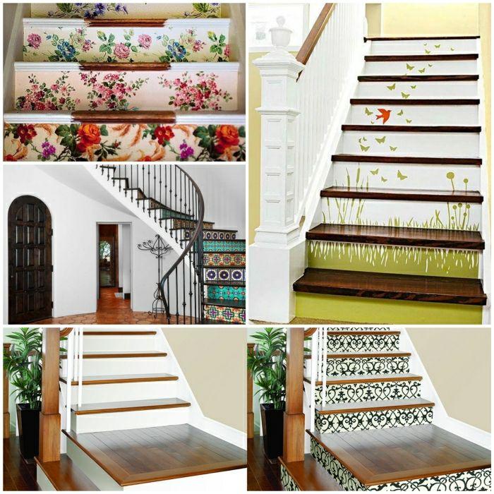 treppenhaus mit wandtapeten gestalten Idéer til huset Pinterest