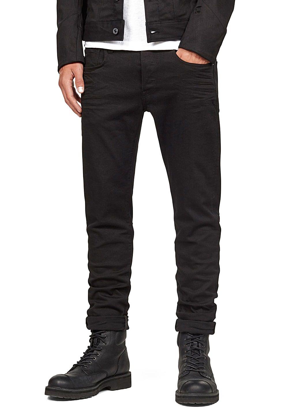 G-Star 3301 Slim - Jean pour Homme - Noir   Boutiques France ... f7d5747de976