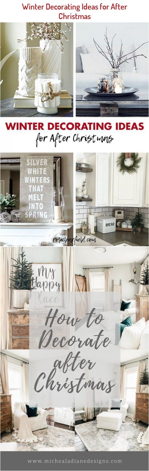 White House Christmas Decorations 2020 Scream Winter decorating ideas for after Christmas. Neutral decor