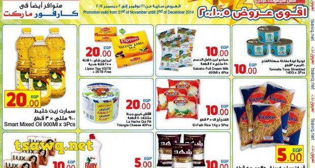 عروض 5 و 10 و 20 جنية فى كارفور مصر حتى 2 ديسمبر 2014 10 Things Website Resources