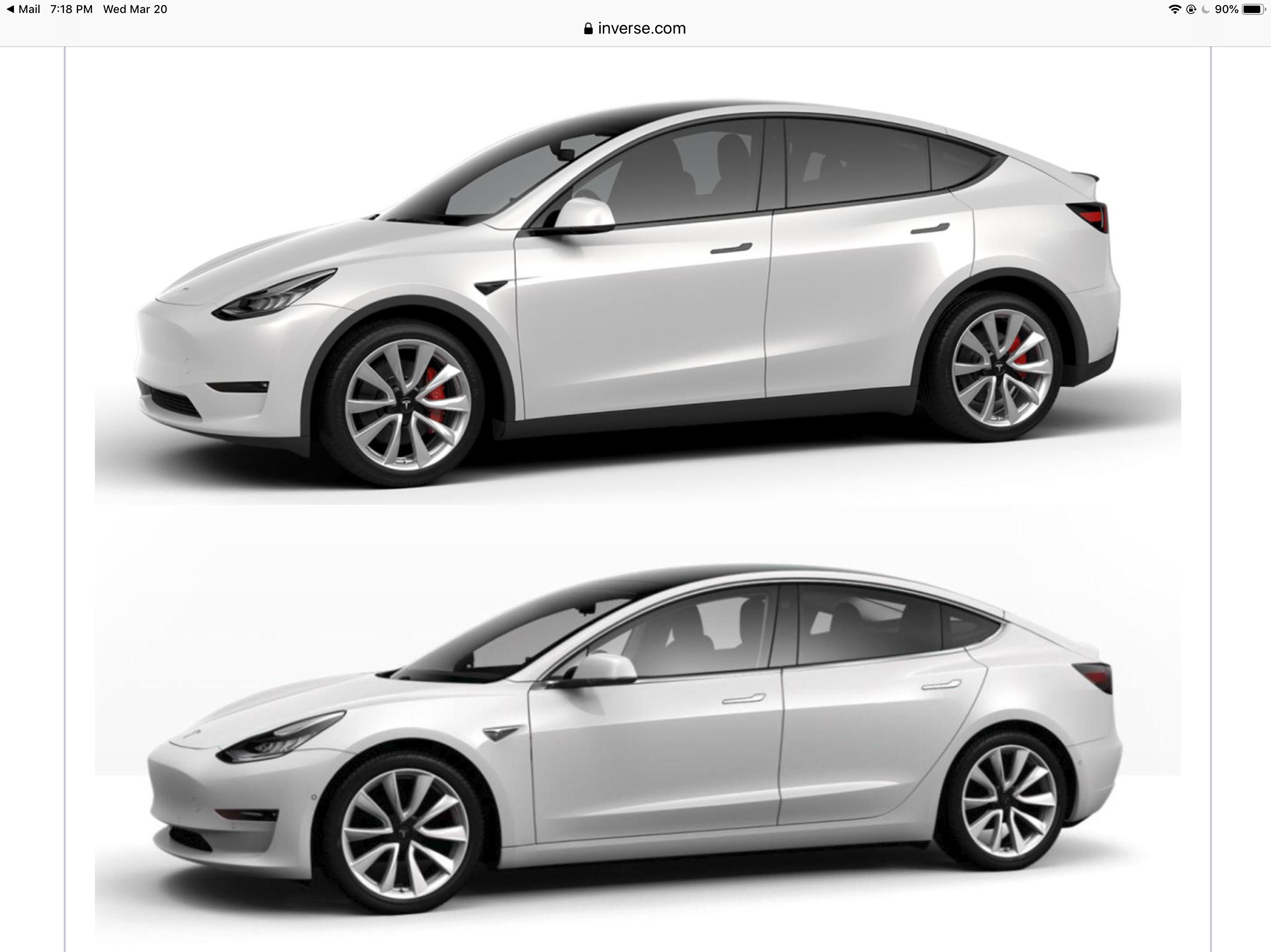 Tesla Model 3 And Model Y Side By Side Tesla Car Tesla Model S