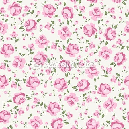 Scrap Booking Floral Seamless Background