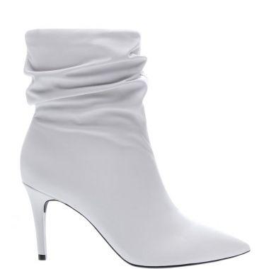 bota branca em couro arezzo