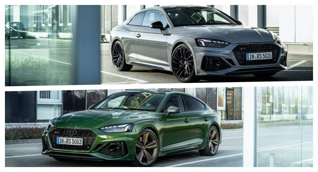 Explore The 2020 Audi Rs5 Coupe And Rs5 Sportback In New Photos Videos Rs5 Coupe Audi Sport Audi Rs5