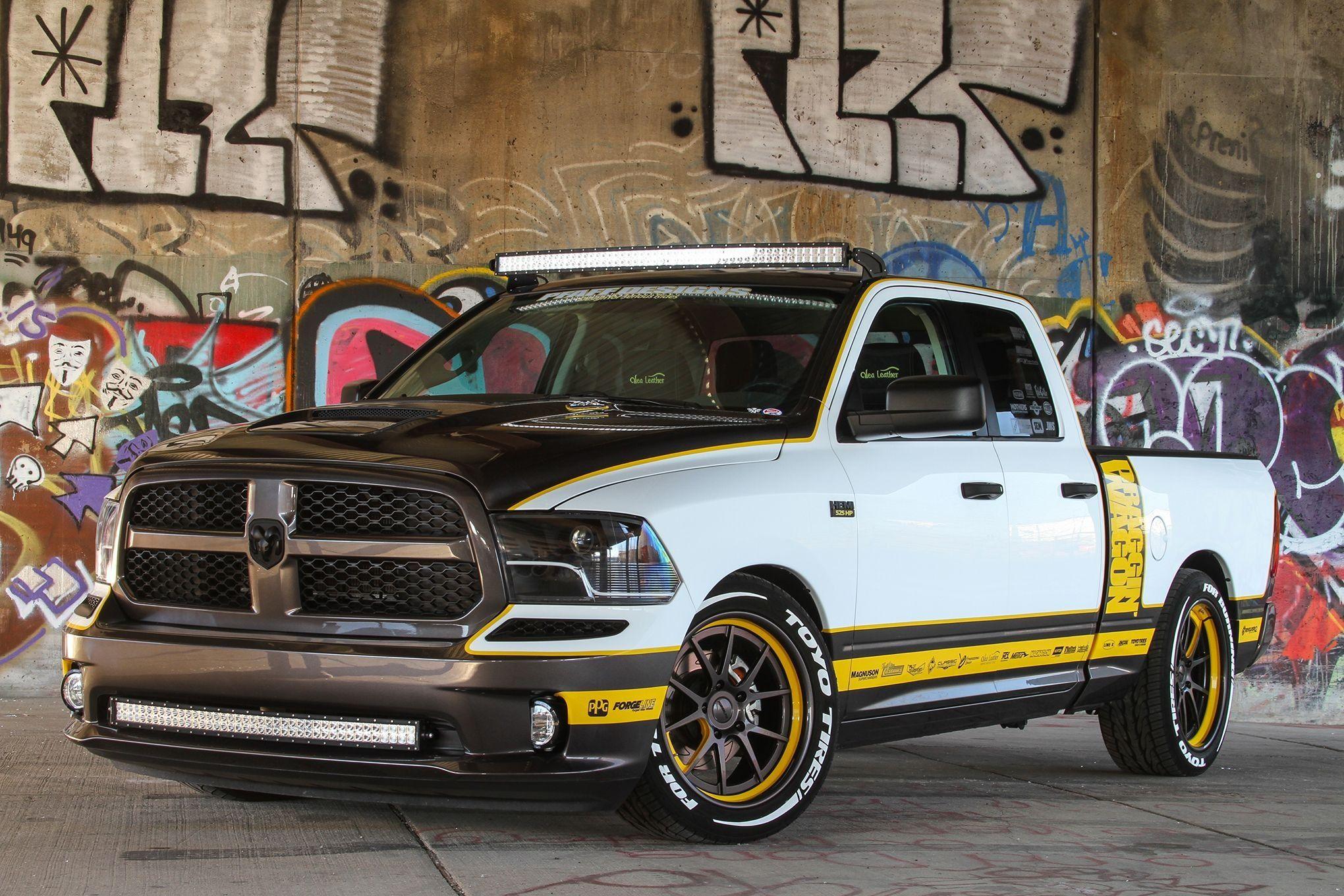 White Dodge Ram Spruced Up With Led Light Bars Old Dodge Trucks Dodge Trucks Dodge Ram