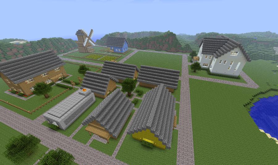 Minecraft Village | Minecraft: Village By CJ64
