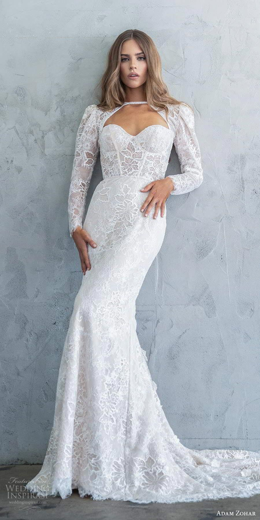 adam zohar fall 2020 bridal strapless sweetheart corset