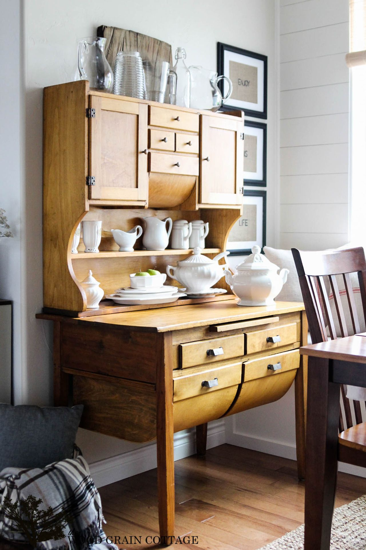 magical home inspirations love this furniture piece wood grain cottage kitchen cabinets on farmhouse kitchen hutch id=66734