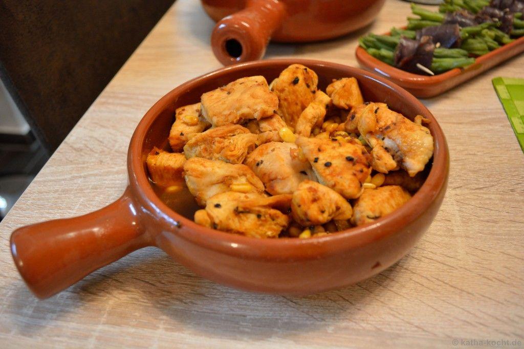 Tapas - Honig-Hähnchen mit Pinienkernen #buffet